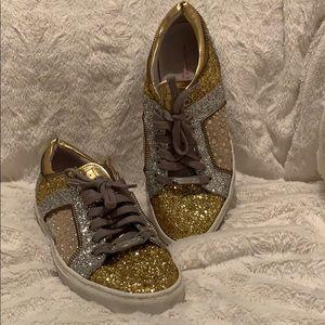 Alessandro Dell'Acqua Glitter metallic sneakers